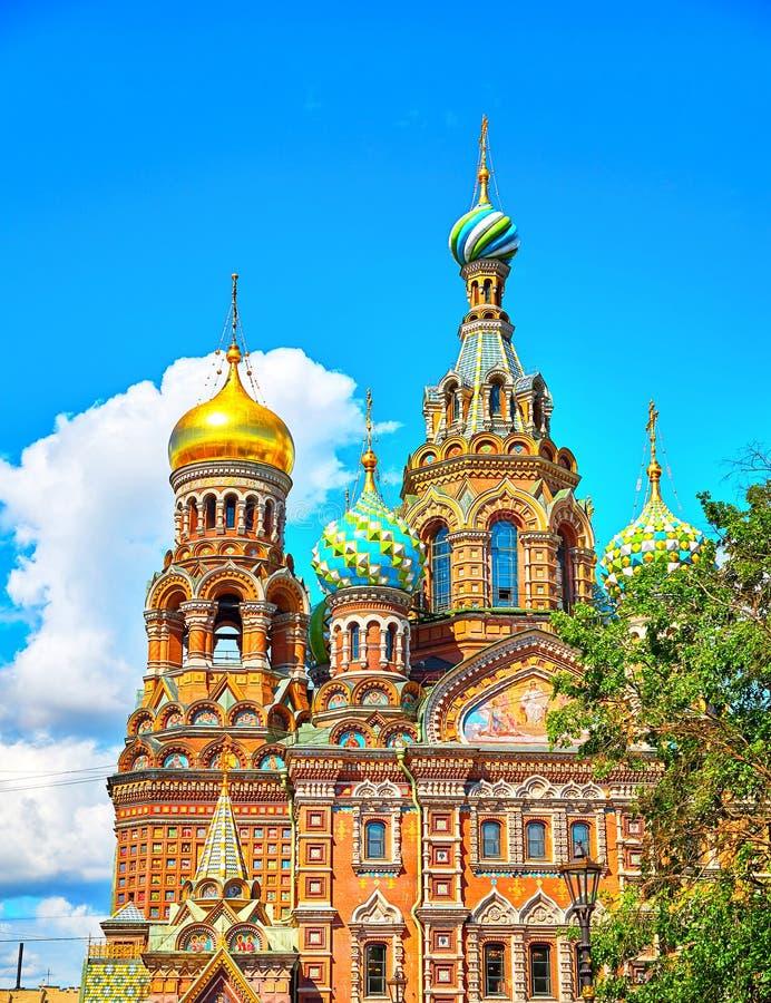 Διάσημη εκκλησία του Savior στο αίμα σε Άγιο Πετρούπολη στοκ εικόνες