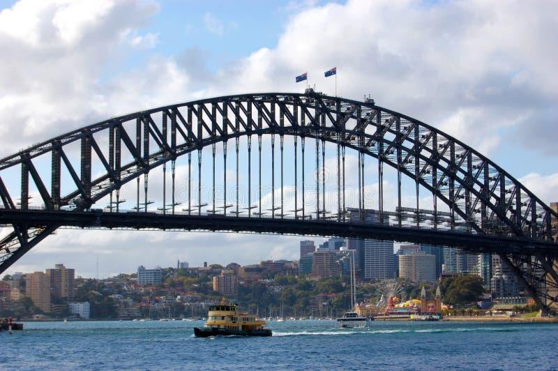 Διάσημη λιμενική γέφυρα του Σύδνεϋ στην Αυστραλία στοκ εικόνα με δικαίωμα ελεύθερης χρήσης