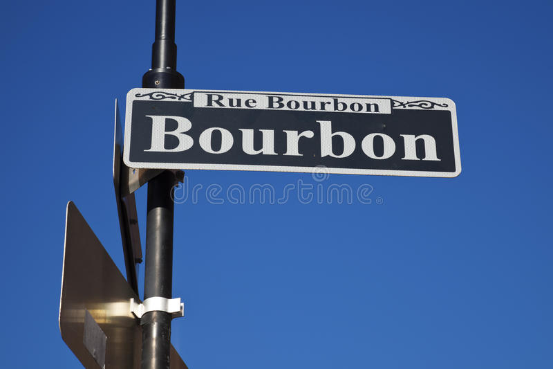 διάσημη οδός μπέρμπον στοκ φωτογραφίες με δικαίωμα ελεύθερης χρήσης