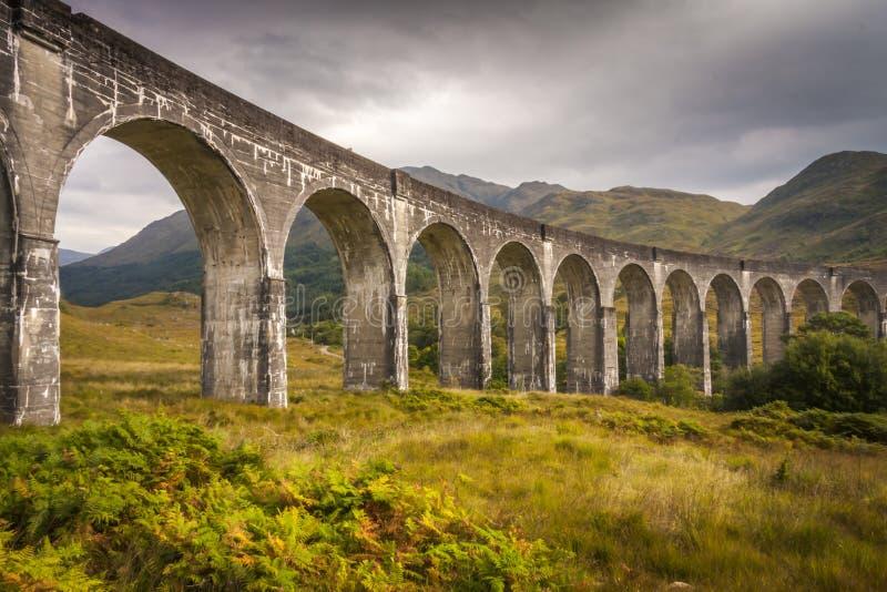 Διάσημη οδογέφυρα σιδηροδρόμων σε Glenfinnan στοκ φωτογραφίες με δικαίωμα ελεύθερης χρήσης