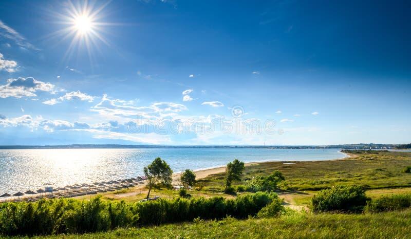 Διάσημη παραλία Sabunike στη χερσόνησο Privlaka κοντά στη Nin, νομός Zadar, Κροατία στοκ φωτογραφίες