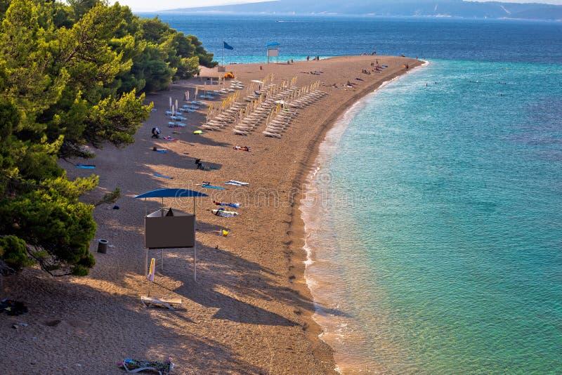 Διάσημη παραλία αρουραίων Zlatni στο νησί Brac στοκ φωτογραφία με δικαίωμα ελεύθερης χρήσης