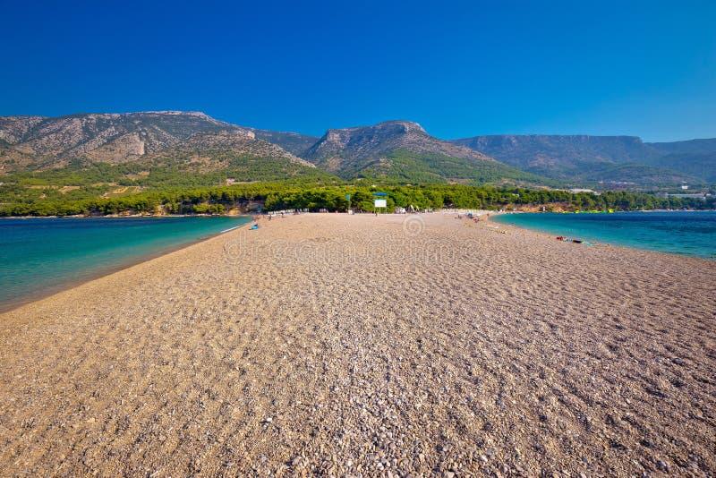 Διάσημη παραλία αρουραίων Zlatni στο νησί Brac στοκ εικόνα
