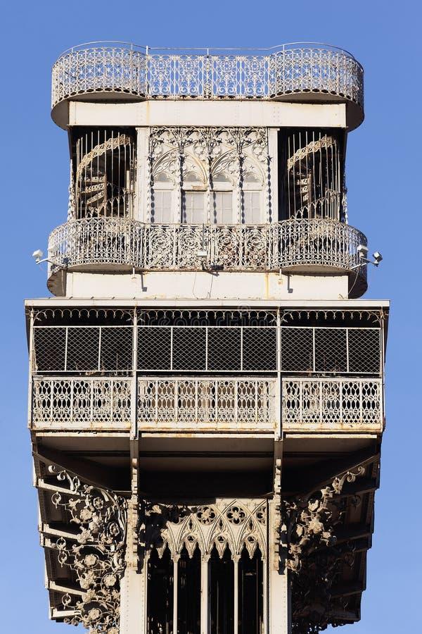 Διάσημος ανελκυστήρας Santa Justa Στοκ Εικόνες