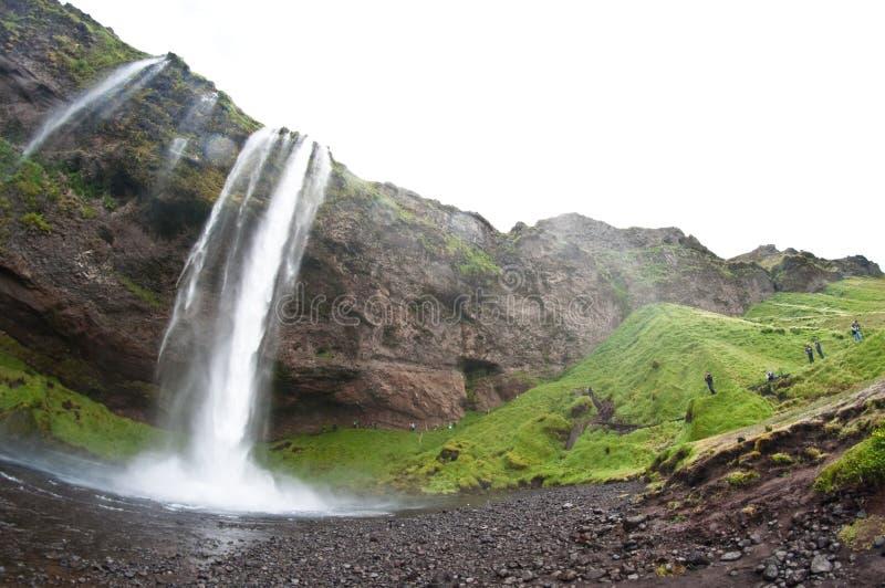διάσημος καταρράκτης της Ισλανδίας seljalandsfoss στοκ εικόνες