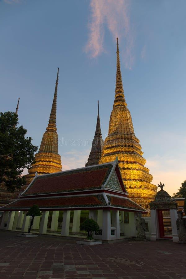 Διάσημος ναός Wat Pho ναών της Μπανγκόκ, Μπανγκόκ, Ταϊλάνδη στοκ εικόνες