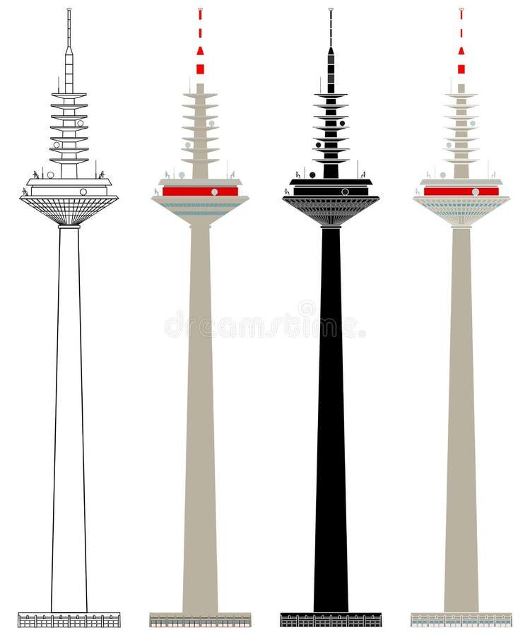 Διάσημος πύργος μπροστά ελεύθερη απεικόνιση δικαιώματος