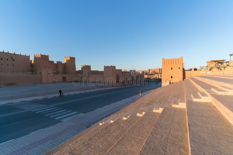 Διάσημο αρχαίο Kasbah Taourirt σε ανατολικό Ouarzazate, Μαρόκο στοκ εικόνα με δικαίωμα ελεύθερης χρήσης