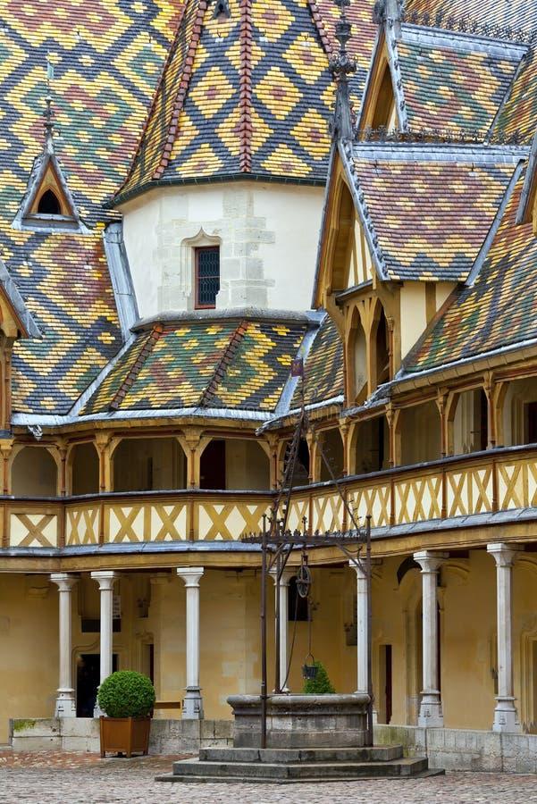 διάσημο Γαλλία άσυλο του Beaune burgundy στοκ φωτογραφία με δικαίωμα ελεύθερης χρήσης