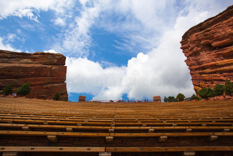 Διάσημο κόκκινο αμφιθέατρο βράχων στο Ντένβερ στοκ φωτογραφία με δικαίωμα ελεύθερης χρήσης