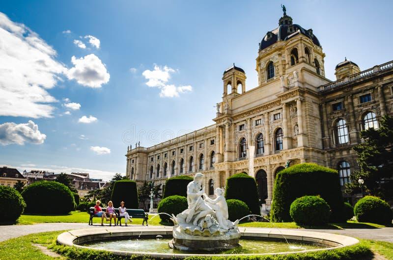 Διάσημο μουσείο φυσικής ιστορίας μουσείων Naturhistorisches στη Βιέννη Αυστρία στοκ εικόνα