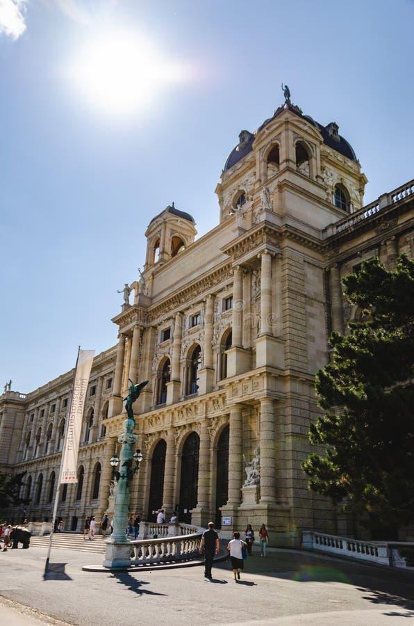 Διάσημο μουσείο φυσικής ιστορίας μουσείων Naturhistorisches στη Βιέννη Αυστρία στοκ φωτογραφία