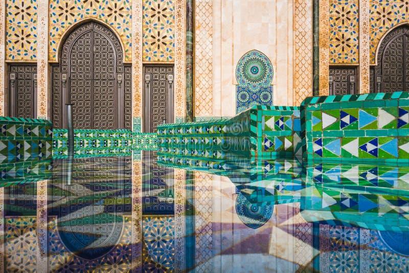 Διάσημο ορόσημο της Καζαμπλάνκα στοκ φωτογραφία με δικαίωμα ελεύθερης χρήσης