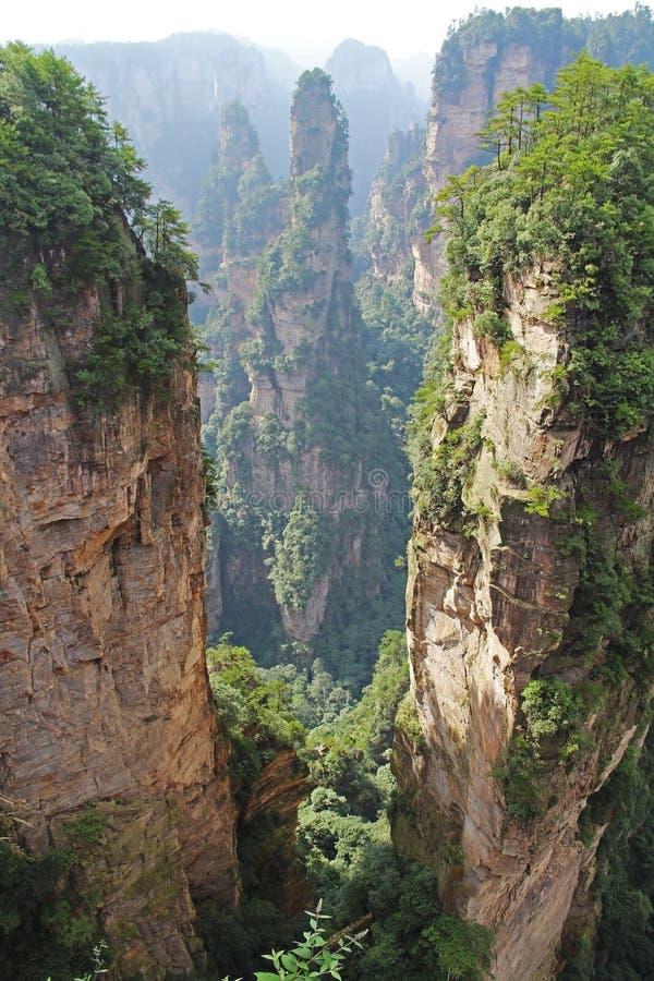 Διάσημο πάρκο εθνικών δρυμός Zhangjiajie στο επαρχία Hunan, Κίνα στοκ φωτογραφία με δικαίωμα ελεύθερης χρήσης