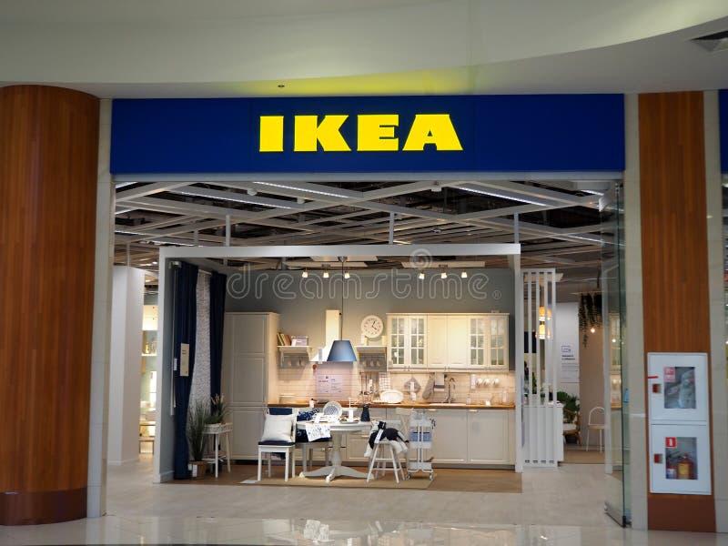 Διάσημο σουηδικό κατάστημα της IKEA στη λεωφόρο της Ατλάντικ Σίτυ στοκ εικόνες με δικαίωμα ελεύθερης χρήσης