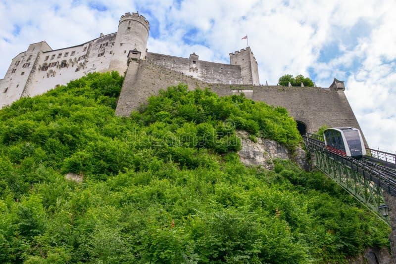 Διάσημο φρούριο Hohensalzburg στην ιστορική πόλη του Σάλτζμπουργκ, στοκ φωτογραφία με δικαίωμα ελεύθερης χρήσης