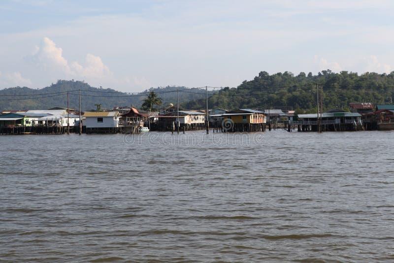 Διάσημο χωριό νερού στο Μπρουνέι Μπόρνεο στοκ εικόνα με δικαίωμα ελεύθερης χρήσης