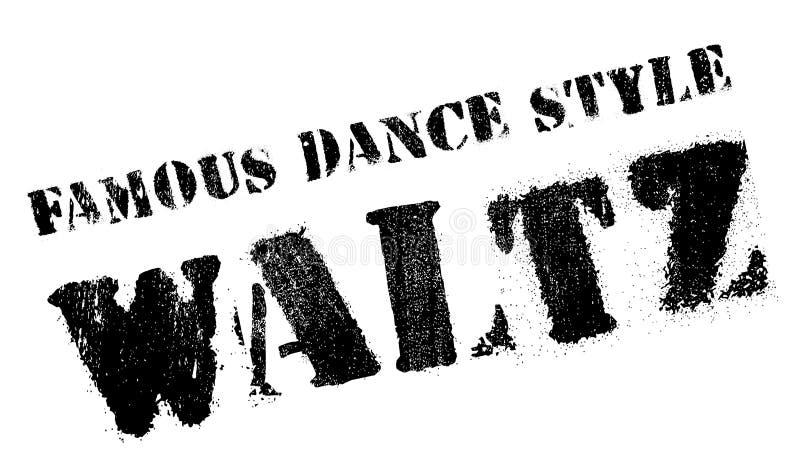 Διάσημο ύφος χορού, γραμματόσημο βαλς διανυσματική απεικόνιση