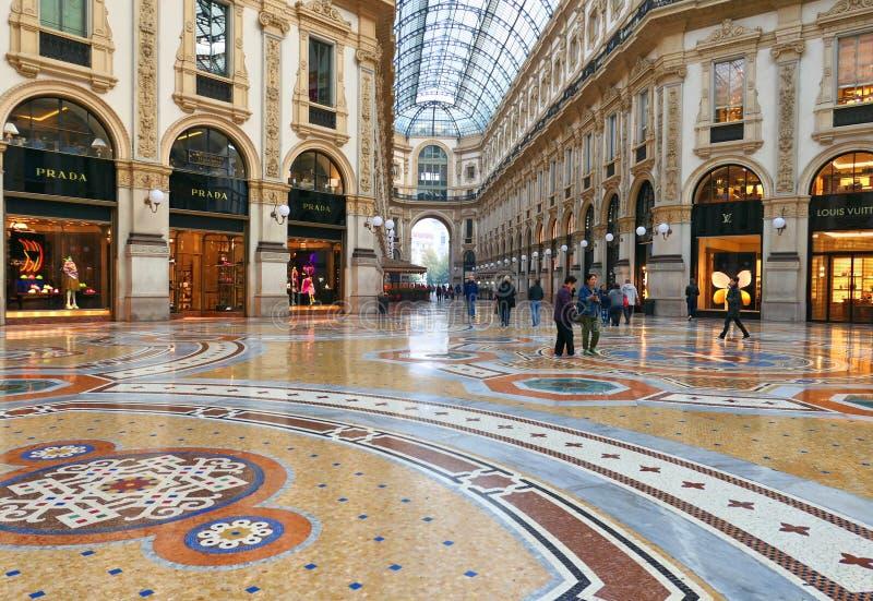 Διάσημο Galleria Vittorio Emanuele ΙΙ στο Μιλάνο στοκ φωτογραφία