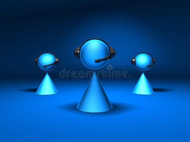 διάσκεψη κλήσης απεικόνιση αποθεμάτων