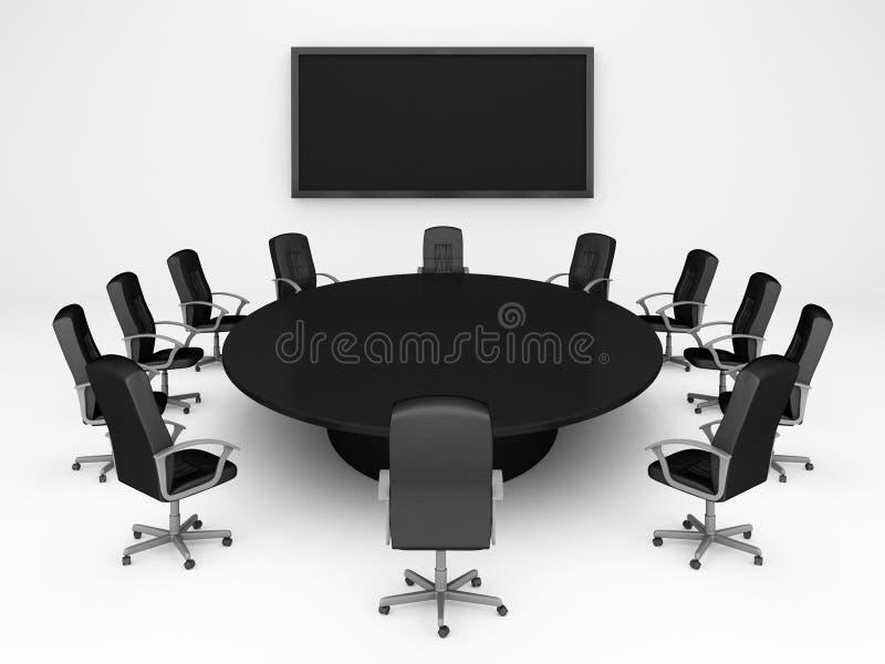 διάσκεψη στρογγυλής τρ&alph διανυσματική απεικόνιση