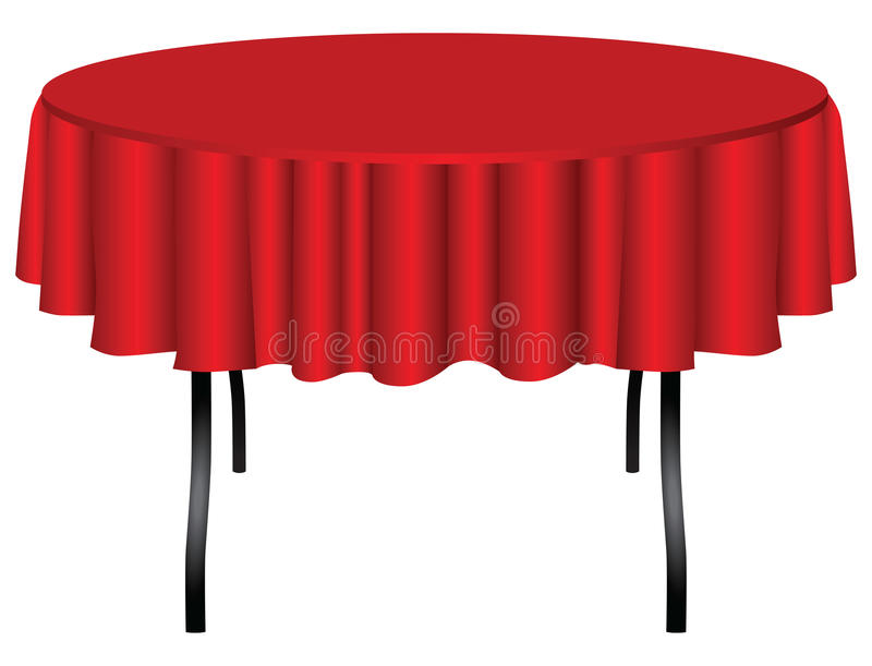 Διάσκεψη στρογγυλής τραπέζης στα πόδια διανυσματική απεικόνιση