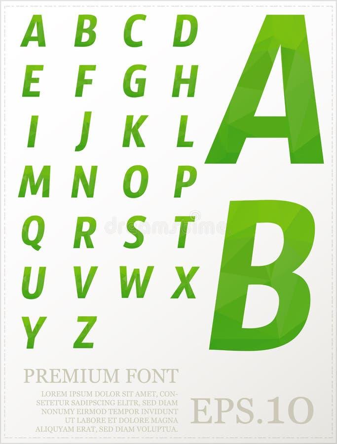 Διάστασης ζωηρόχρωμο χαμηλό πολυ καλλιτεχνικό χρώμα πηγών αλφάβητου καθορισμένο fon απεικόνιση αποθεμάτων