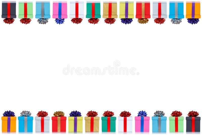 Διάστημα αντιγράφων χριστουγεννιάτικων δώρων δώρων καρτών γενεθλίων copyspace που απομονώνεται στο άσπρο υπόβαθρο ελεύθερη απεικόνιση δικαιώματος