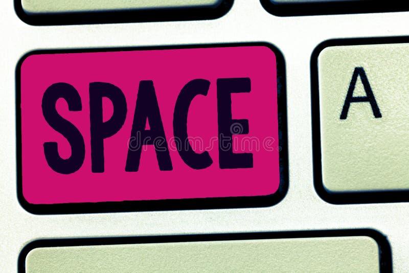 Διάστημα κειμένων γραφής Έννοια που σημαίνει τη συνεχή περιοχή ή την έκταση που είναι ελεύθερες διαθέσιμες μη κατειλημμένες στοκ εικόνες