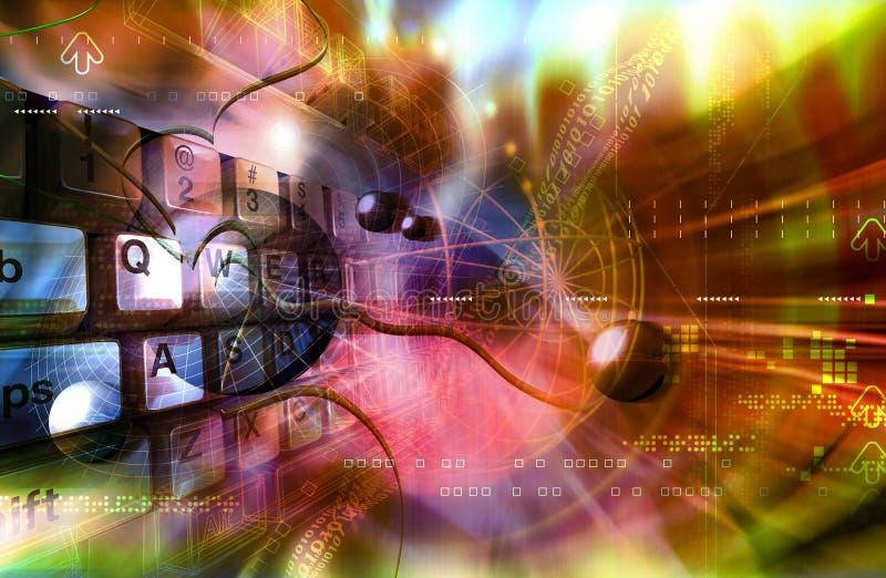 διάστημα πληκτρολογίων διανυσματική απεικόνιση