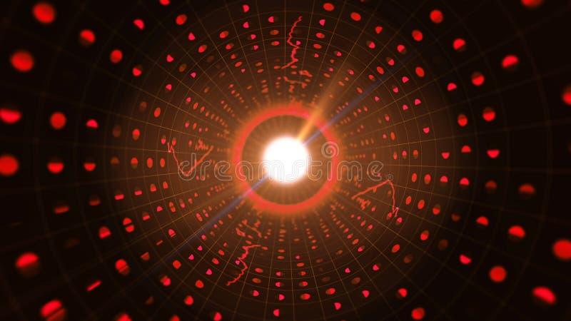 Διάστικτος κόκκινος δυαδικός σωλήνας με τα λάμποντας σημάδια διανυσματική απεικόνιση