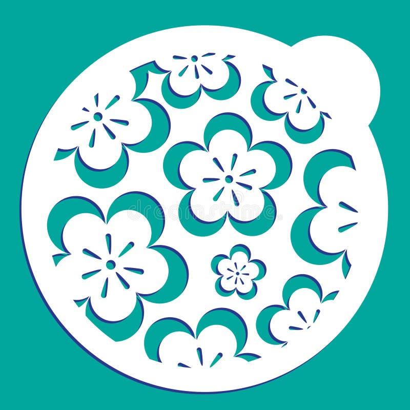 Διάτρητο καφέ λουλουδιών ελεύθερη απεικόνιση δικαιώματος