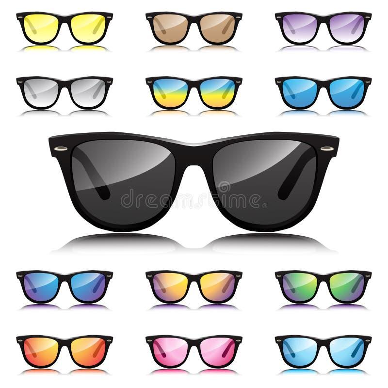 Διάφορα γυαλιά ηλίου Hipster καθορισμένα  απεικόνιση αποθεμάτων