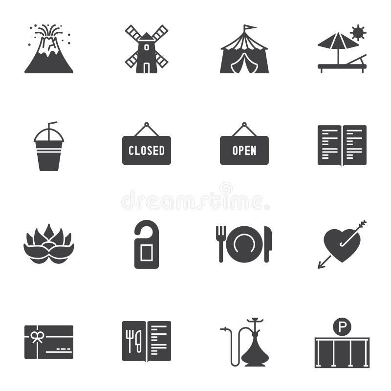 Διάφορα διανυσματικά εικονίδια καθορισμένα απεικόνιση αποθεμάτων