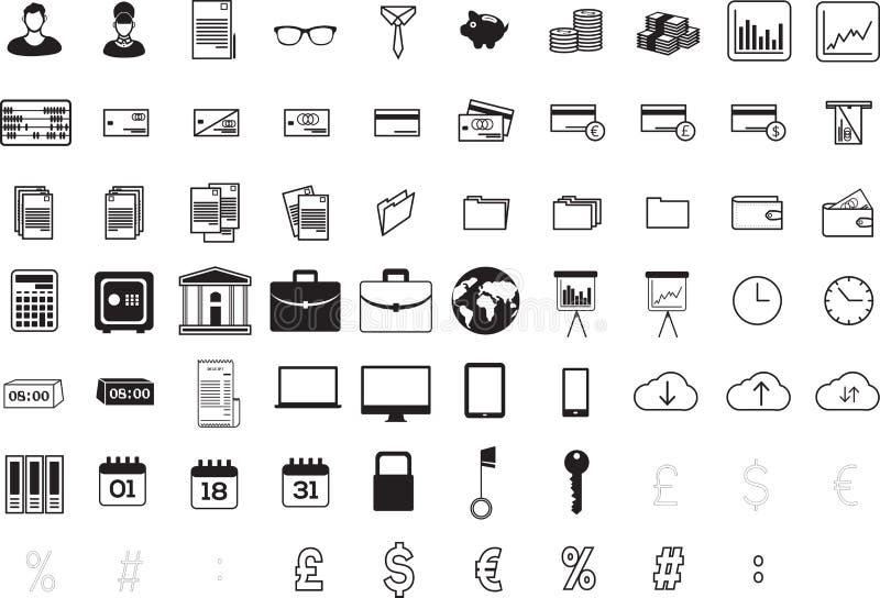 Διάφορα επιχειρησιακά εικονίδια διανυσματική απεικόνιση