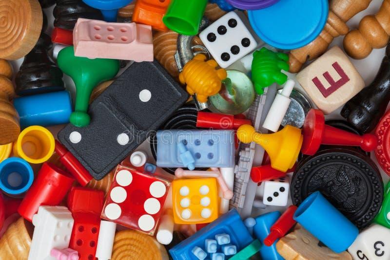 Διάφορα κομμάτια παιχνιδιών στοκ εικόνα με δικαίωμα ελεύθερης χρήσης