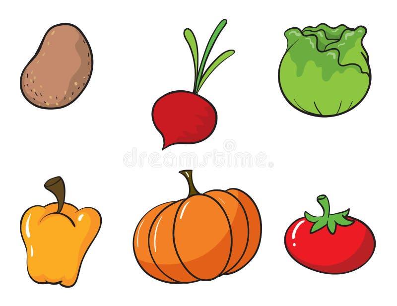 Διάφορα λαχανικά διανυσματική απεικόνιση