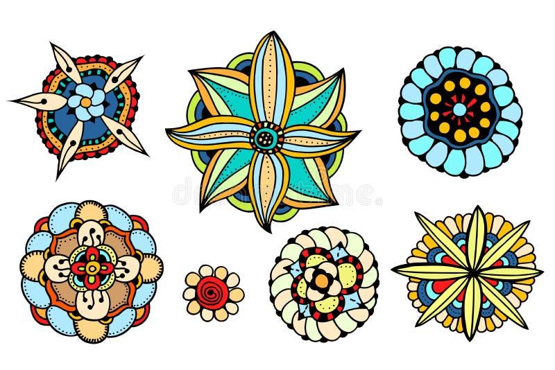 Διάφορα λουλούδια, φύλλα απεικόνιση αποθεμάτων