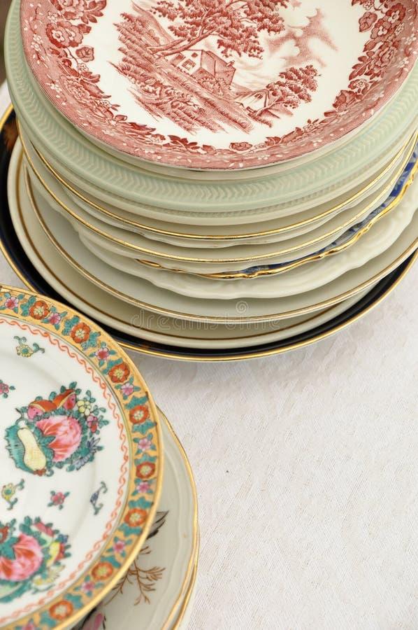 Διάφορα πιάτα στοκ εικόνα