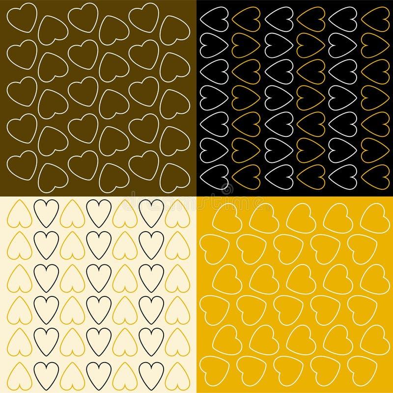 Διάφορα σχέδια με τις καρδιές στοκ φωτογραφία με δικαίωμα ελεύθερης χρήσης