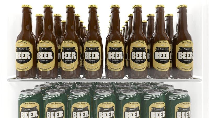 Διάφορα τρισδιάστατα εμπορευματοκιβώτια μπύρας ελεύθερη απεικόνιση δικαιώματος