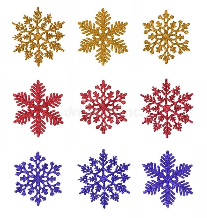 διάφορα snowflakes στοκ εικόνες