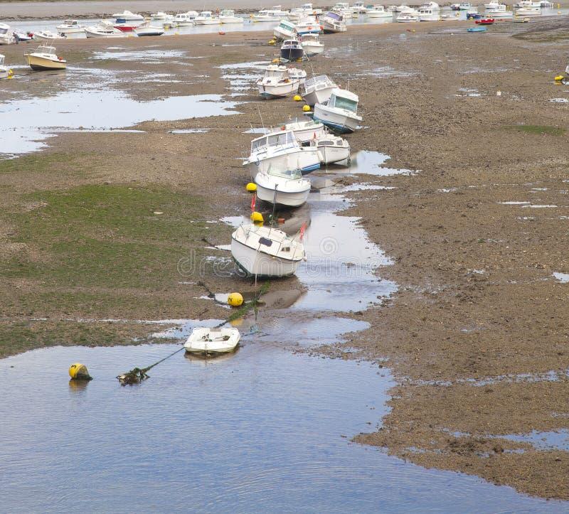 Διάφορες βάρκες στο λιμάνι Αγίου Gilles Croix de Vie, Vendee στοκ εικόνες