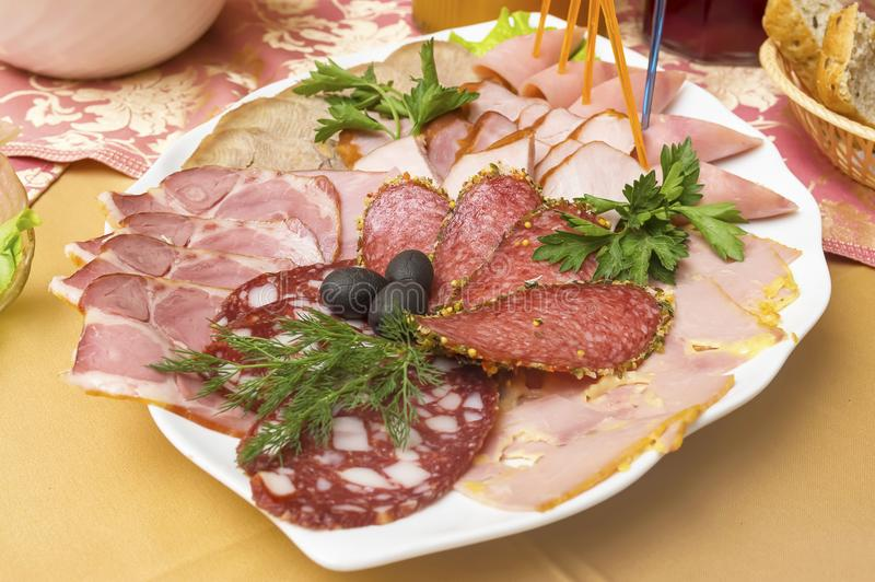 Διάφορες λιχουδιές κρέατος στοκ εικόνες
