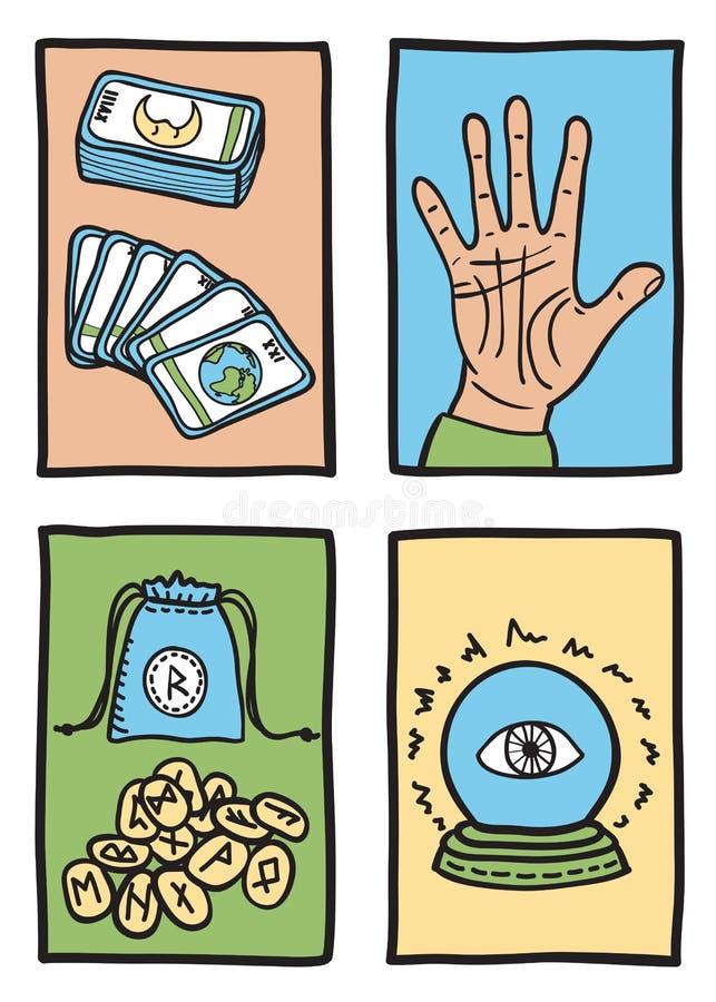 Διάφοροι τύποι αφηγήσεων τύχης ελεύθερη απεικόνιση δικαιώματος
