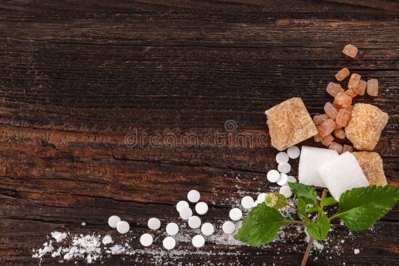 Διάφοροι τύποι ζαχαρών άνωθεν στοκ φωτογραφία με δικαίωμα ελεύθερης χρήσης