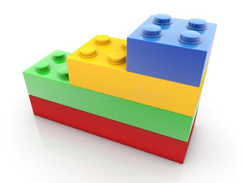 Διάφορος - μεγέθους τούβλα παιχνιδιών διανυσματική απεικόνιση