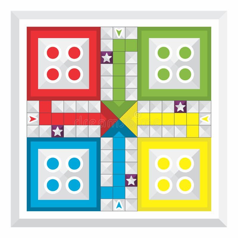 Διάφορος πίνακας οικογενειακών παιχνιδιών, Ludo διανυσματική απεικόνιση