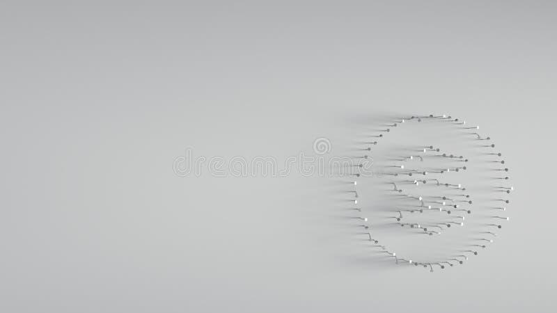 διάφορος των καρφιών μετάλλων στη μορφή του δολαρίου στοκ φωτογραφίες με δικαίωμα ελεύθερης χρήσης