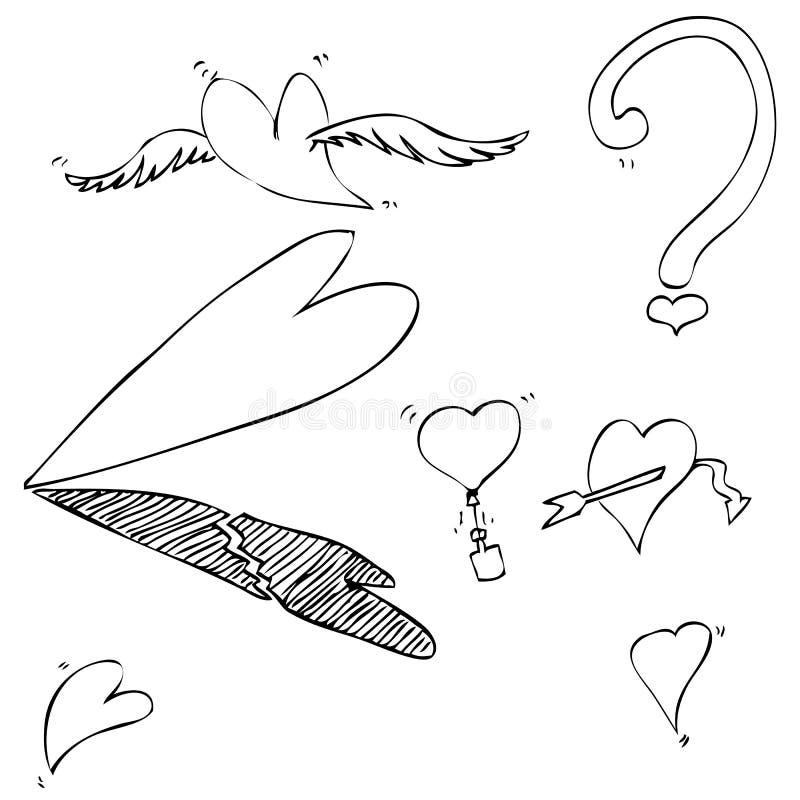 Διάφορος όρος αγάπης, σπάσιμο, βαρύ, φως, περίπλοκο, πτώση μέσα απεικόνιση αποθεμάτων